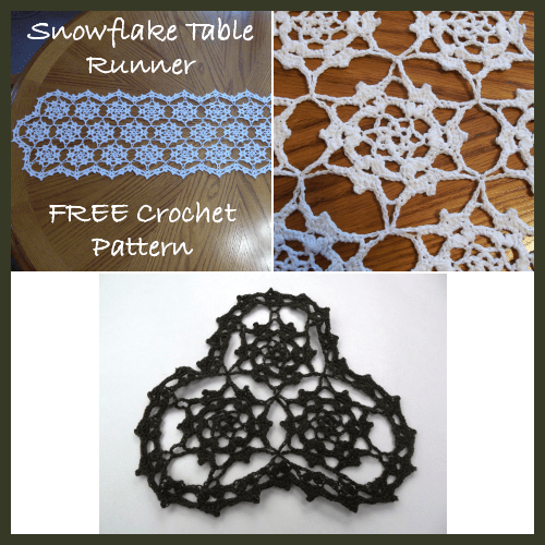 Free Crochet Pattern For Snowflake Table Runner : Snowflake Table Runner ~ FREE Crochet Pattern