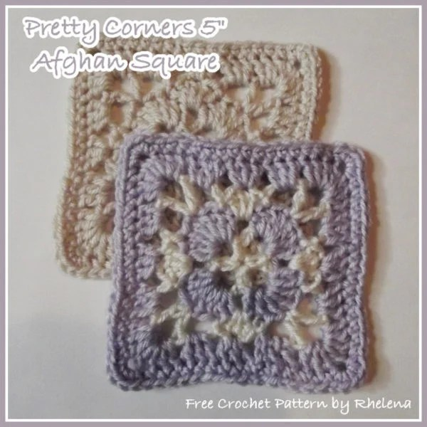Pretty Crochet Patterns : Pretty Corners 5? Afghan Square ~ FREE Crochet Pattern