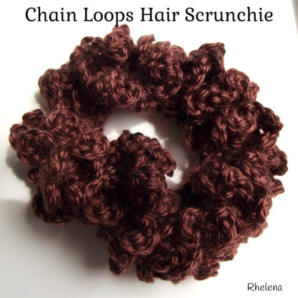 Crochet Hair Scrunchie : Chain Loops Hair Scrunchie - CrochetNCrafts