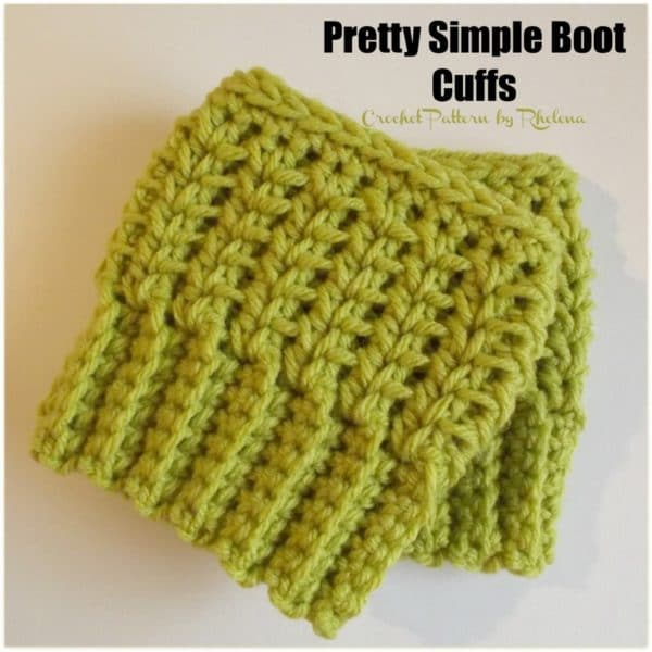 Crochet Boot Cuff Easy Pattern : Pretty Simple Boot Cuffs - CrochetNCrafts