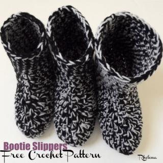 Bootie Slippers ~ FREE Crochet Pattern