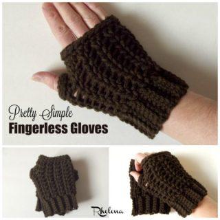 Pretty Simple Fingerless Gloves ~ FREE Crochet Pattern