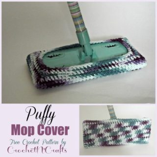 Puffy Mop Cover ~ FREE Crochet Pattern