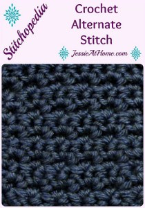 Crochet Alternate Stitch ~ Jessie At Home
