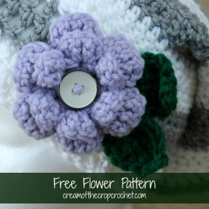 Flower Pattern ~ Cream Of The Crop Crochet