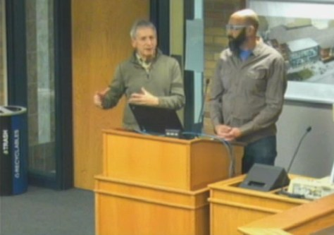 Griff & Marty at Northfield City Council - video screengrab