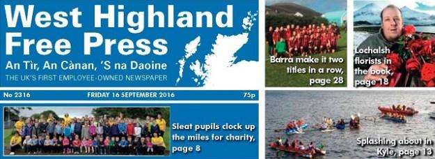 West Highland Free Press - 16 September 2016