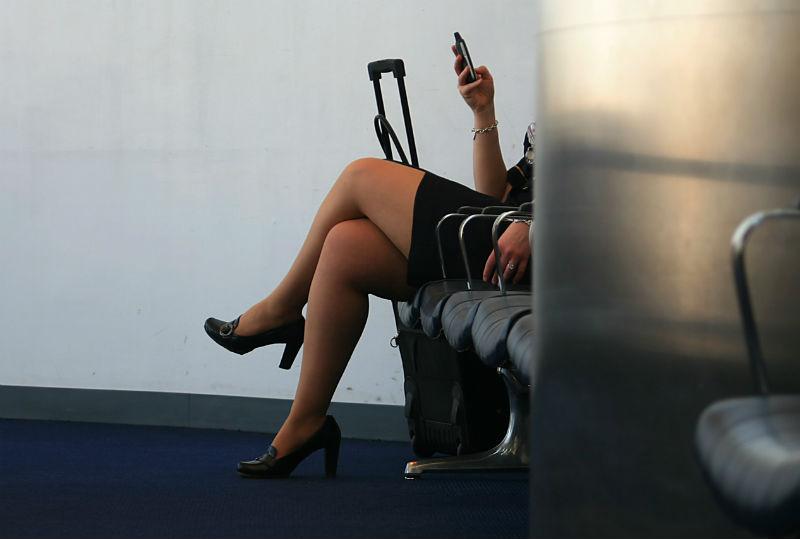 flight attendant legs in airport via flickr