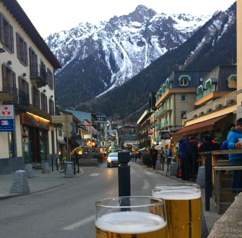 beers in chamonix france eileen cotter wright