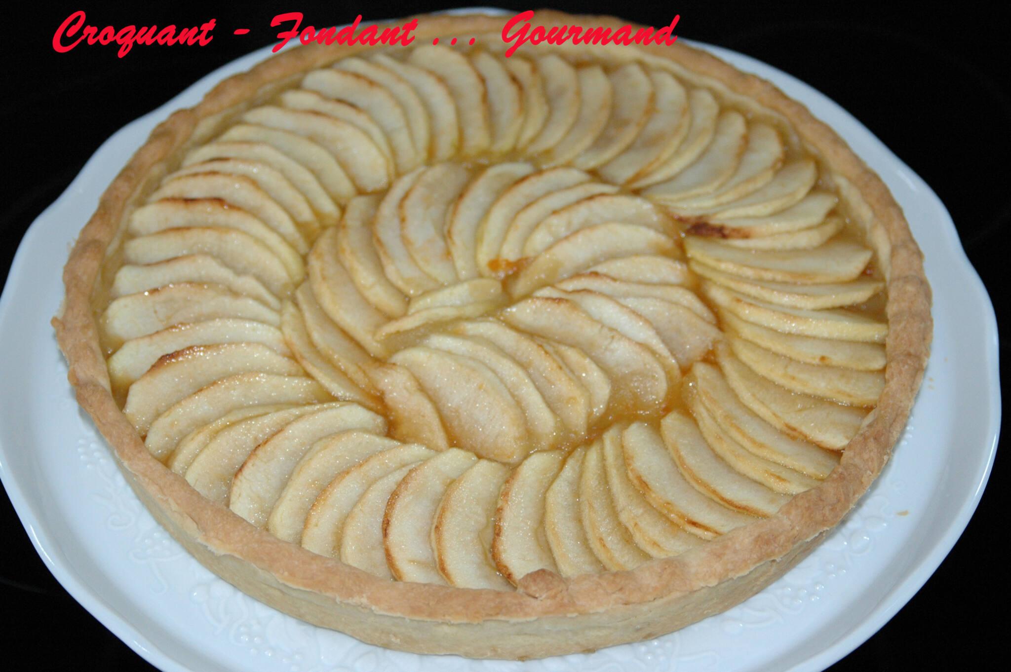 tarte aux pommes croquant fondant gourmand