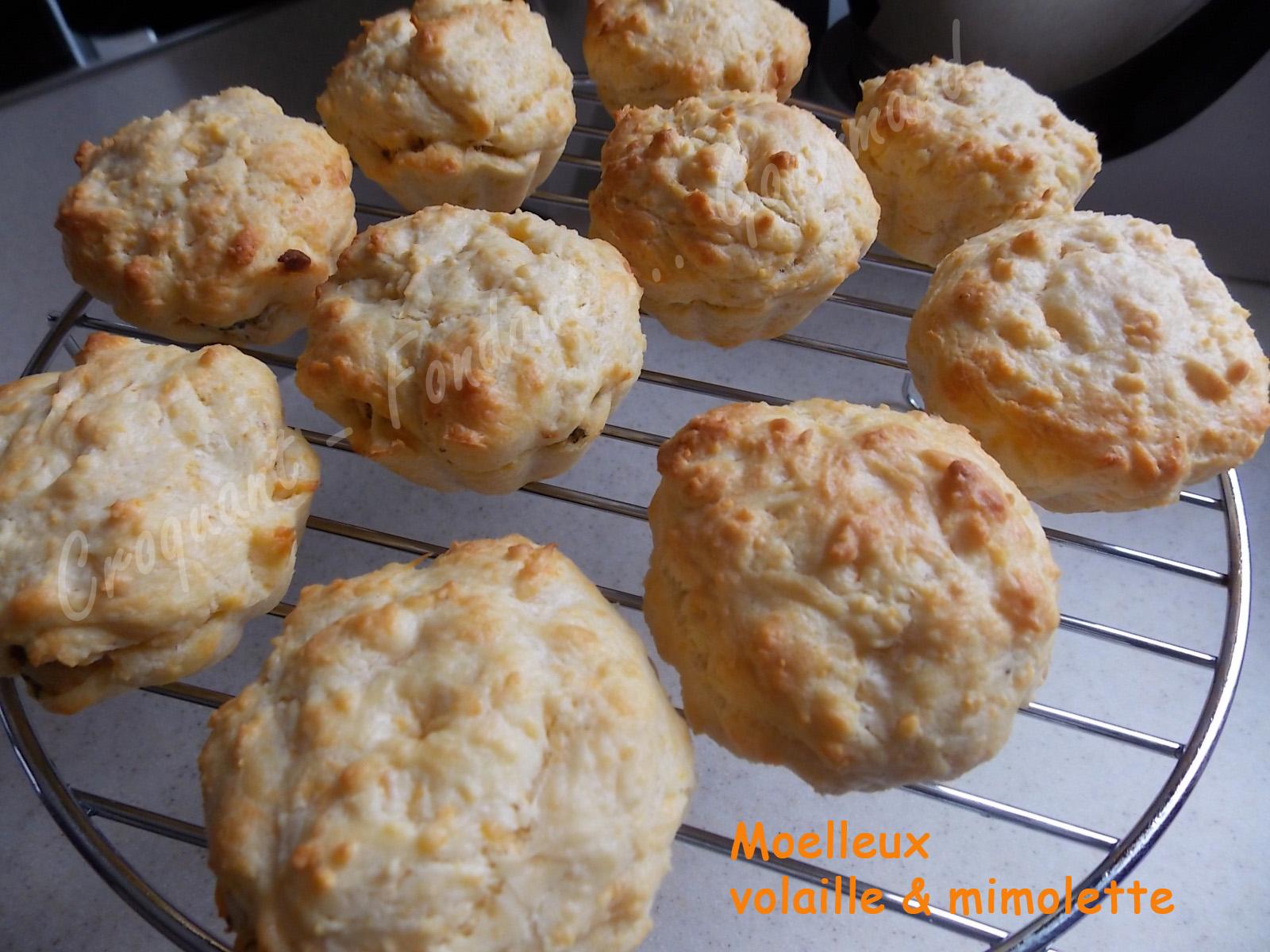 Moelleux poulet et mimolette croquant fondant gourmand - Cuisiner des blancs de poulet moelleux ...