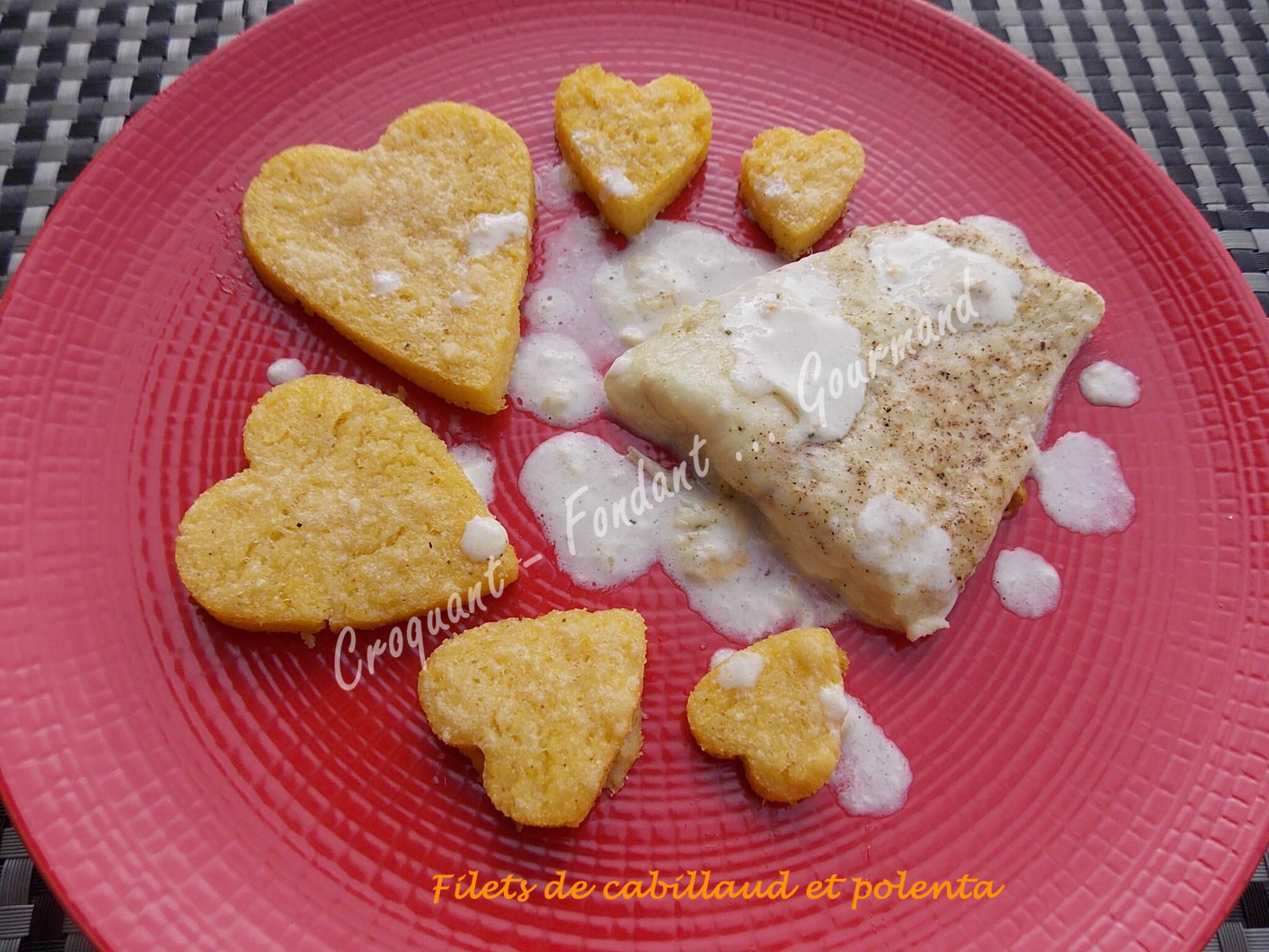 filets de cabillaud et polenta croquant fondant gourmand