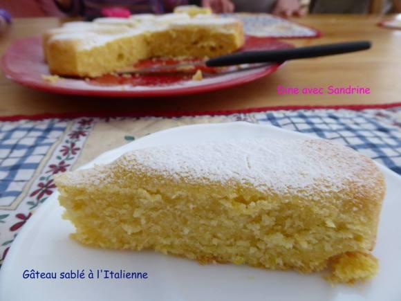 Gâteau sablé à l'Italienne  à vous de jouer Dine avec Sandrine  12