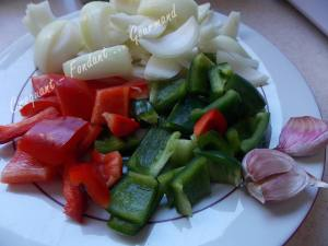 Salade de blé au poulet et légumes confits DSCN5087