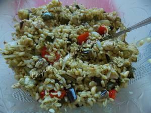Salade de blé au poulet et légumes confits DSCN5107
