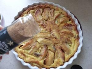 Flognarde aux pommes et aux marrons P1010975