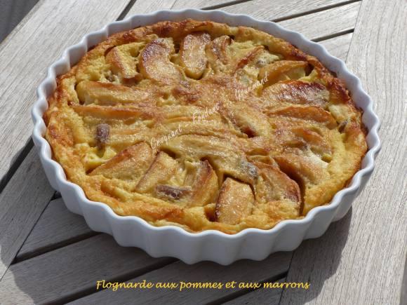 Flognarde aux pommes et aux marrons P1010991