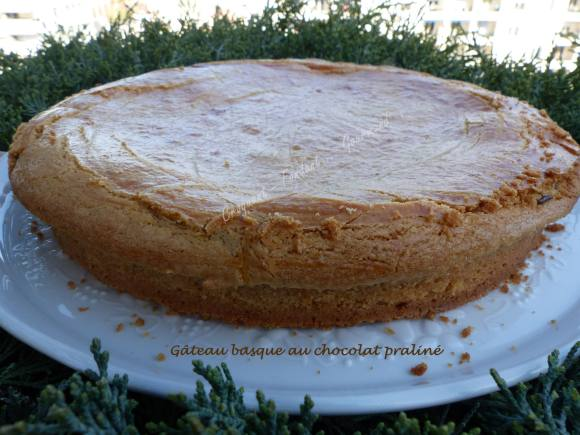 Gâteau basque au chocolat praliné P1020118