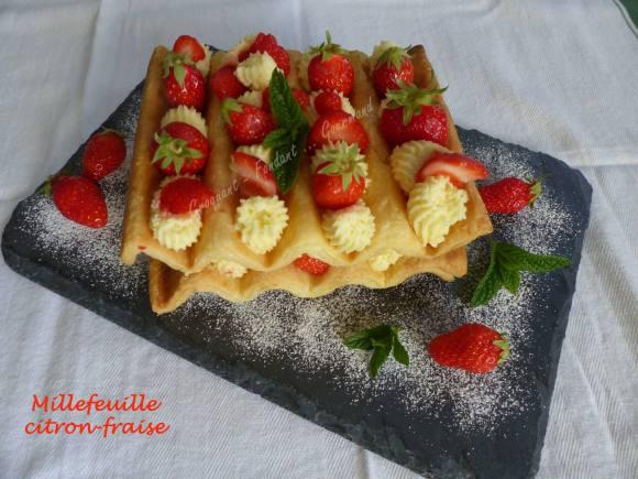 Millefeuille citron-fraise P1030058