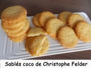 Sablés coco de Christophe Felder Index DSCN2095