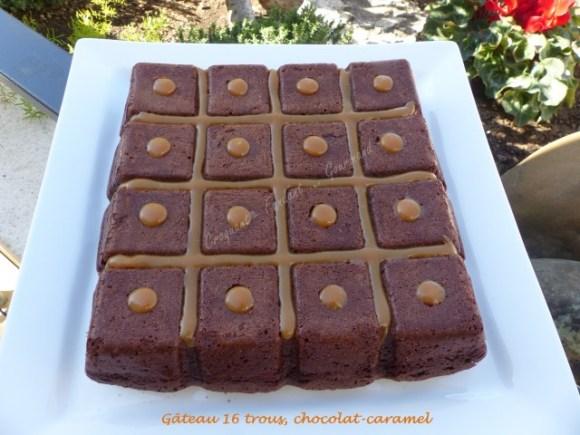 Gâteau 16 trous, chocolat-caramel P1020376