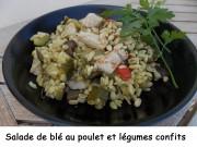 Salade de blé au poulet et légumes confits Index DSCN5110