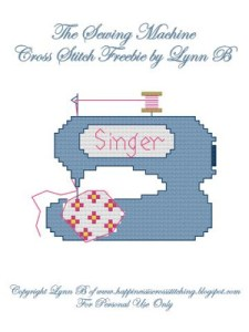 The Sewing Machine cross stitch freebie pattern by Lynn B