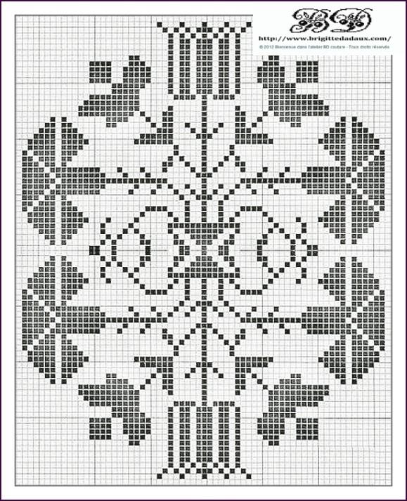 Thistle Folk Motif - Cross-Stitch