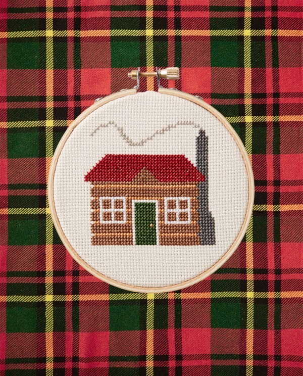 country living s little christmas cabin cross stitch