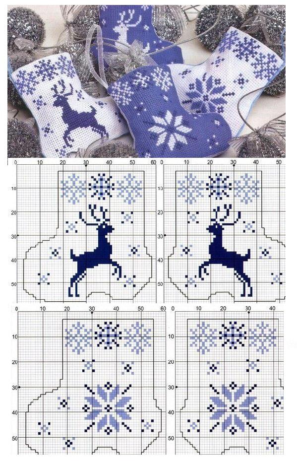 Зимние узоры для вязания на спицах