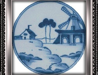 Free Chart – Windmill In Blue