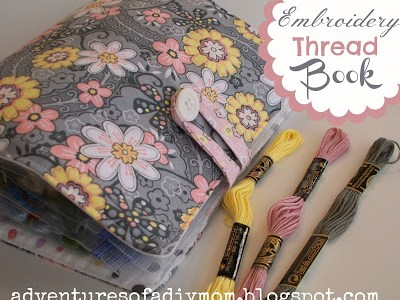 DIY Embroidery Thread Book Organizer