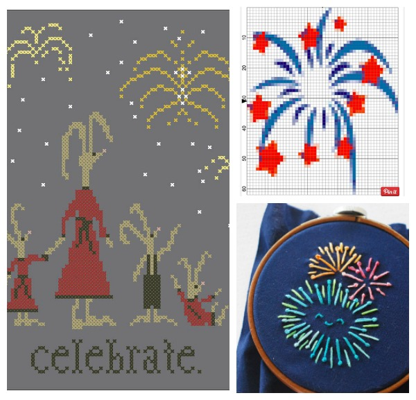 fireworks cross stitch patterns