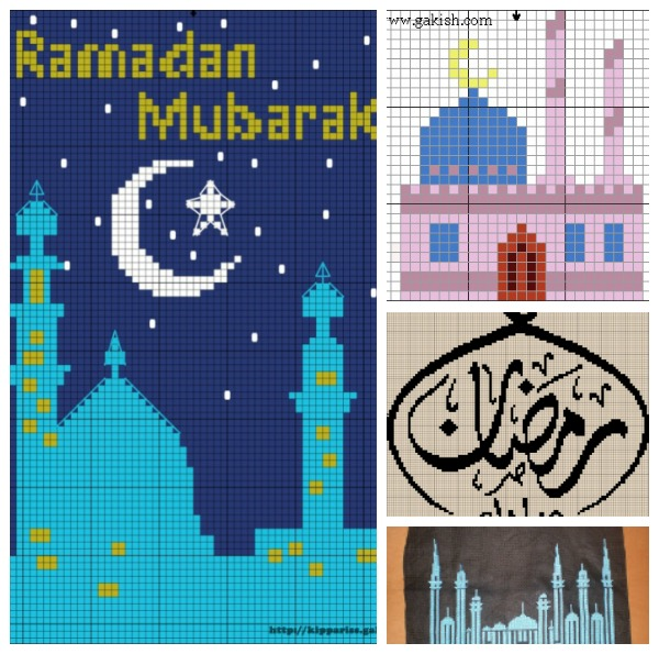 Islamic Cross Stitch Patterns in honor of Ramadan