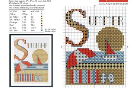 Stitch a Chart to Celebrate Summer