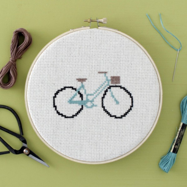 bicylce free cross stitch pattern