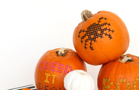 Another Way to Make Cross-Stitch Pumpkins