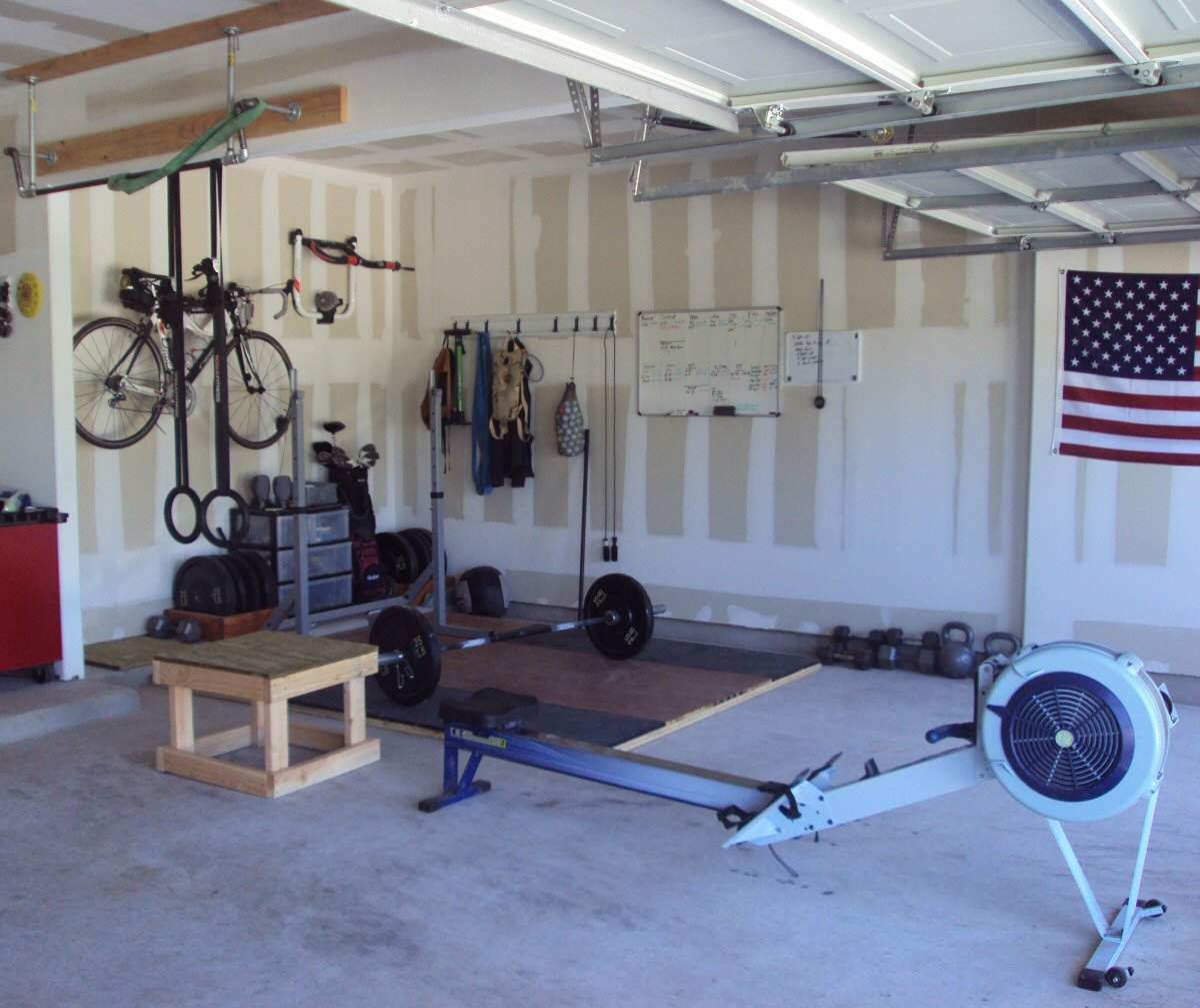 Garage Gym With Car My New Crossfit Garage Gym Crossfitting Austin