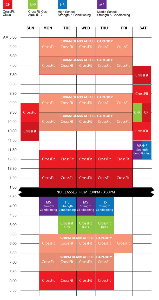 Have you seen the latest schedule? CrossFit for the entire family!