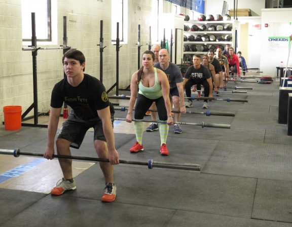5:30pm greasing the groove for their deadlifts.