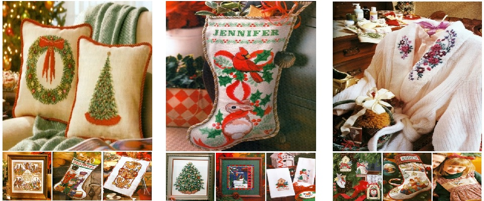 Cross Stitch Christmas Books by Better Homes and Gardens