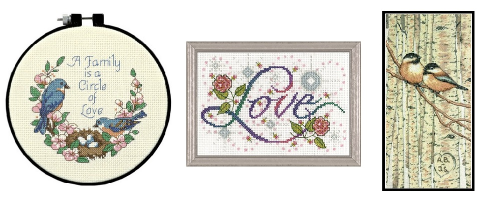 All About Love Cross Stitch Kits