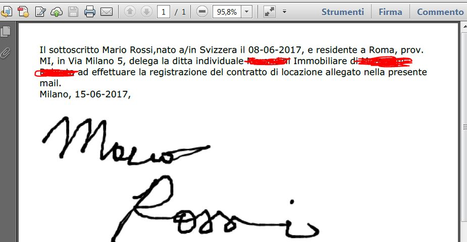 How to reduce the size of the signature in the pdf attachment