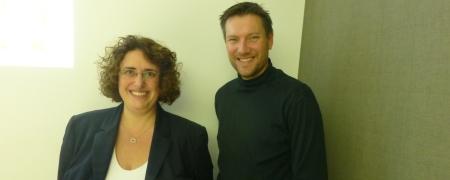 Ina Feierber und Jo Diercks beim Recruiting After Work in Frankfurt