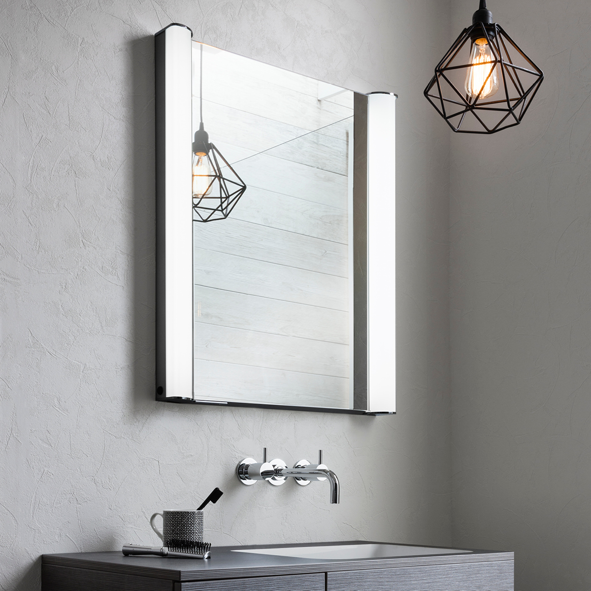 Mirrored Bathroom Cupboard Duo 600 Illuminated Mirrored Cabinet In Duo Luxury
