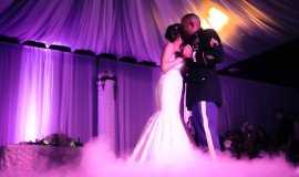Ruxie And Alfredo Wedding-Lighting, Monogram, Moving Heads. Anaheim White House