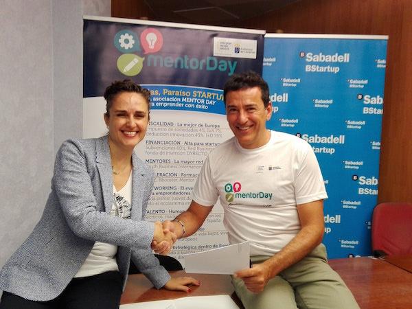 Mentor day y banco de sabadell a nan fuerzas a favor de for Convenio oficinas y despachos tenerife
