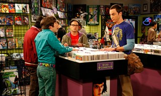 """The Jiminy Conjecture"" -- While Leonard (Johnny Galecki, center) and Penny struggle to recover from an awkward first hookup, Sheldon (Jim Parsons, right) and Howard (Simon Helberg, left) stake their best comic books on a bet to determine the species of a cricket, on THE BIG BANG THEORY, Monday, Sept. 28 (9:30-10:00 PM, ET/PT) on the CBS Television Network.   Photo: Sonja Flemming/CBS ©2009 CBS Broadcasting Inc. All Rights Reserved."