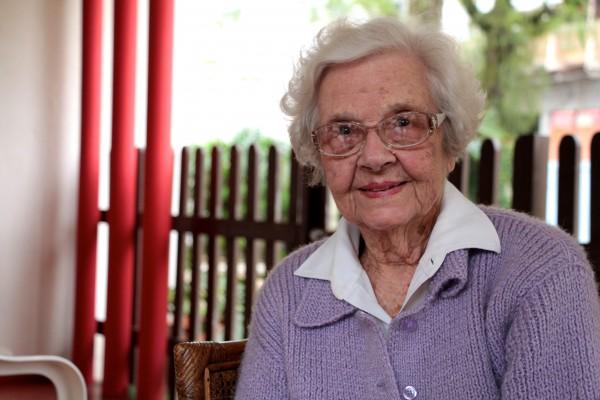 93 Jahre alt, Facebook-Nutzerin und quasi Herz und Gedächtnis von Blumenau in Personalunion: Alda Niemeyer.