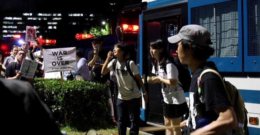 Straßenproteste in Tokio